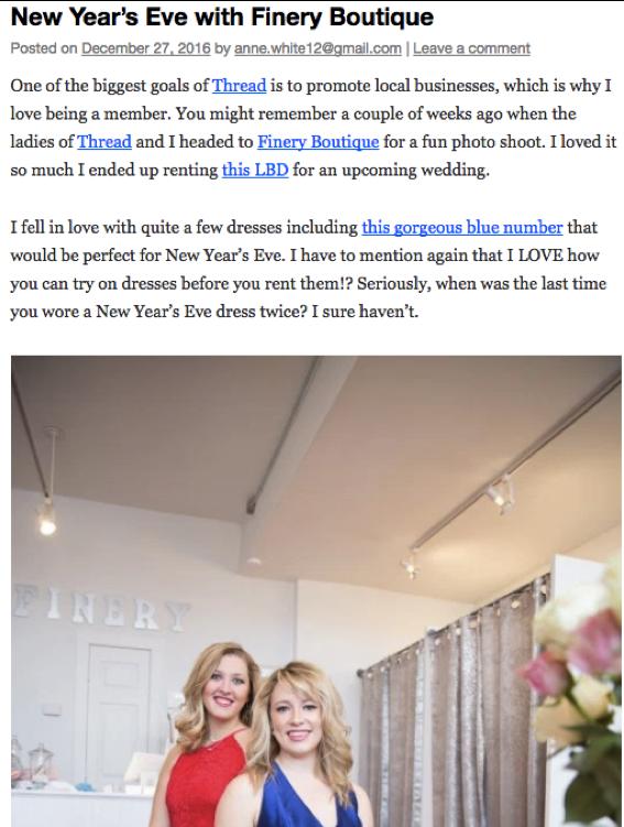 Success of Stilettos Blog - http://www.successonstilettos.com/2016/12/27/new-years-eve-dress-finery-boutique/
